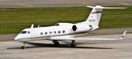 13-passenger G-IVSP, N1904W, based KFLL Ft. Lauderdale FL