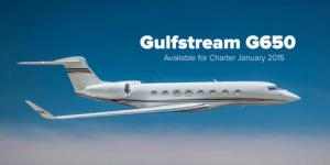 Gulfstream G650 California Charter Operator Listing