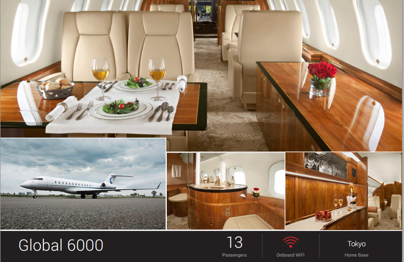 Jet Edge Adds Global 6000 To Charter Fleet Based Japan  FlightList PRO Air