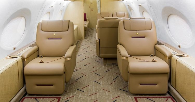 G650 interior, SFO Based With Charter Operator Solairus Aviation