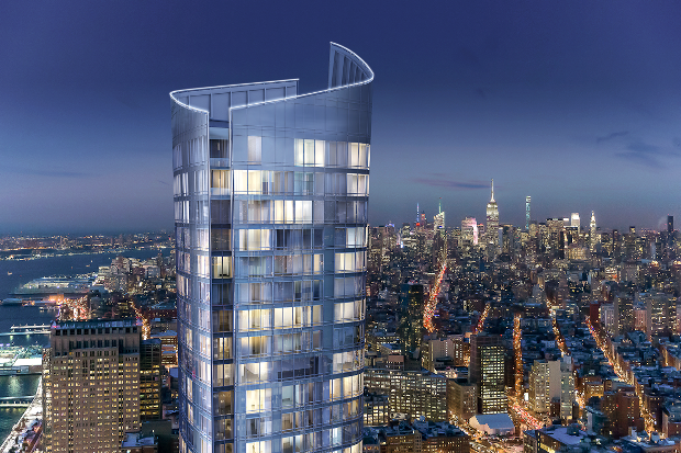 111 Murray Street is now on the rise in Manhattan's Tribeca.