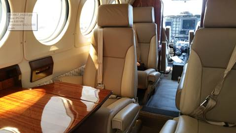 Premier Air Charter King Air 200 Interior - Refurbished 2015
