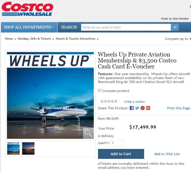 Wheels Up Costco