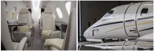 GrandView Aviation's  new 2015 Embraer Phenom 300 for charter