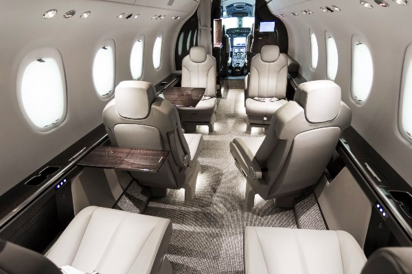 Cabin of the 2015 Citation Latitude based So. California with Cutter Flight Management