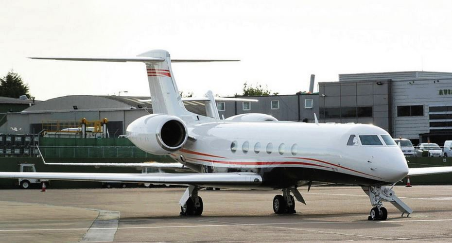 19-passenger Gulfstream G-V for charter, operated by ExcelAire, LLC.