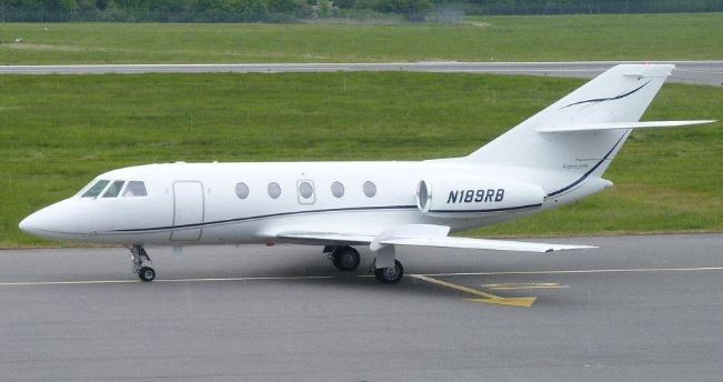 Falcon 20 midsize jet available for charter from Rennia Aviation, Gainsville, FL.