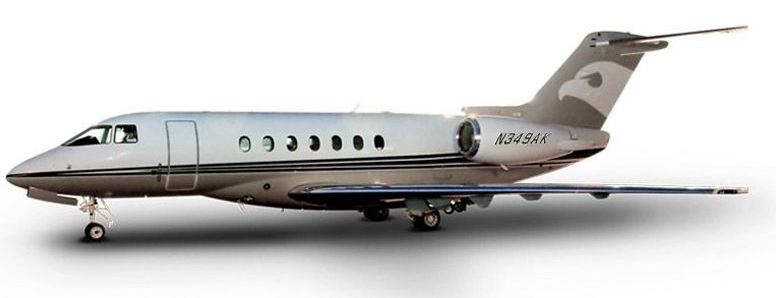 A Hawker 4000 operated by Talon Air for Wheels Up shuttle service between New York and Florida.