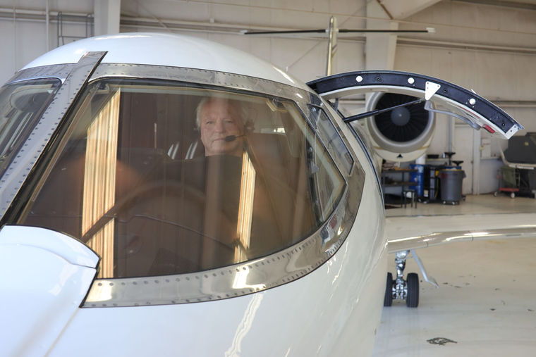 ATI Jet's Lyle Byrum in the Learjet 60