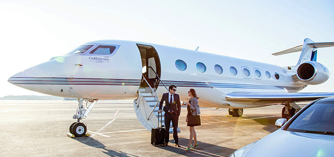 Charter Gulfstream G650 jet operated by Phenix Jet. Photo: Sojitz Corp.
