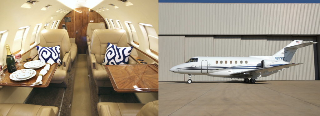 Hawker 1000A super-midsize 9-passenger jet now available for charter with operator Freedom Jets