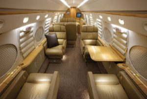 PHOTO 16-passenger Gulfstream V cabin, new to charter with operator Prime Jet.