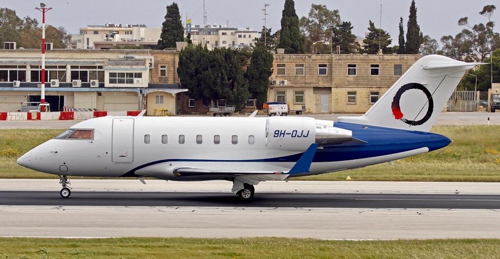 OJets 14-passenger Challenger 650 for charter based Singapore.
