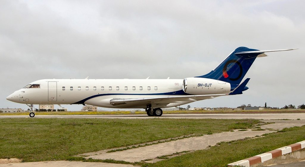 Charter Global 6000 newly operated by OJets based Signapore.