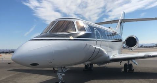 Hawker 800XP new to the charter market operated by Cirrus Aviation Services, Las Vegas.